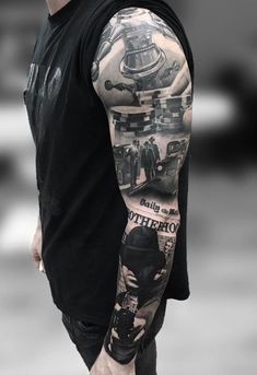 This tattoo will be a choice of a tough guy. The whole is mysterious and very effective.