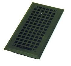 "Steel Flat Black Mission Floor Register - 4"" x 14"""