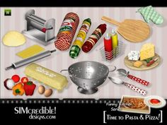 Sims 3 Finds - Funny Kitchen Series - Time To Pasta and Pizza by SIMcredible! at TSR