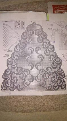 Crochet Thread Patterns, Crochet Designs, Crochet Stitches, Filet Crochet Charts, Knitting Charts, Crochet Art, Crochet Home, Crochet Tablecloth, Crochet Doilies