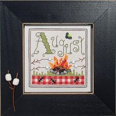 "May 2012 Cross Stitch Pattern of the Month ""August Camping"""