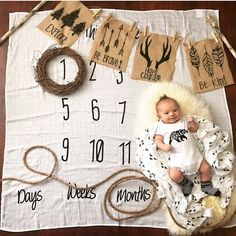 Such a sweet way to capture your baby's milestones on this milestone blanket / age blanket - can't wait to see the monthly pictures!