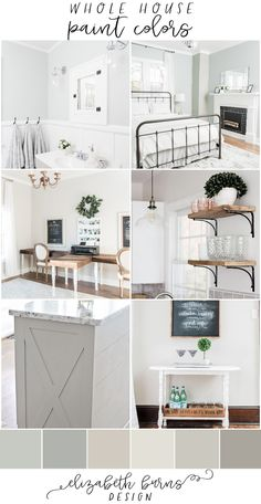 Elizabeth Burns Design Whole house paint scheme farmhouse with pictures paint colors for home sherwin williams 2018 Silver Strand Magnetic Gray Agreeable Gray Repose Gra. Paint Color Schemes, Grey Paint Colors, Best Paint Colors, Bedroom Color Schemes, Paint Colors For Home, Interior Paint Colors, Home Interior Design, House Color Schemes Interior, Home Paint