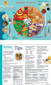 MyPlate for Older Adults Handouts: Elderly Nutrition Handouts  $11.95