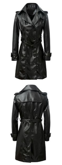 What to wear when all really want to do is black trench coat .Find it at Choies.com!
