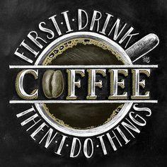 Muestra de café café decoración arte de la pizarra la tiza #coffeeart