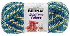 Bernat Softee Baby Colors Yarn 42 Ounce Blue Rainbow Single Ball -- Click on the image for additional details.Note:It is affiliate link to Amazon. #KnittingCrochet