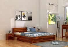 Utilize every inch of the space in your Bedroom starting from Bed! Add a built-in storage Bed to your Bedroom & save your extra storage space with Woodenstreet's multifunctional elegant Built In Storage, Bed Storage, Storage Spaces, Extra Storage, Linen Storage, Queen Size, King Size, Double Bed Designs, Wood Bed Design