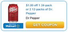 $1 Dr. Pepper (1-24 Pk. or 2-12 Pks.)
