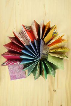 Ephemera Rainbow Accordion by erinzam, via Flickr