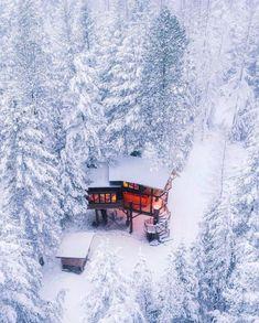 Winter Szenen, Winter Cabin, Cozy Cabin, Cabin Tent, Snow Cabin, Winter House, Cabin In The Woods, Little Cabin, Winter Landscape