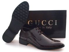 GUCCI Men's leather oxford shoes