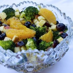 Fruit and Broccoli Buffet Salad #MyAllrecipes #AllrecipesAllstars and #AllrecipesFaceless