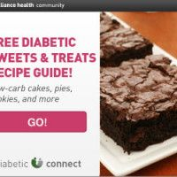 """Inside this free """"Diabetic Sweets & Treats"""" recipe guide you'll find many of our best diabetic dessert recipes created by diabetics for diabetics. They're low in carbohydrates so they can easily fit your healthy meal plan. No-Bake Chocolate Swirl Cheesecake Cherry Coconut Macaroons Chocolate Peanut Butter Fudge Plus, this exclusive guide is packed with healthy,…"""