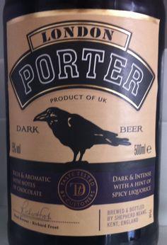Shepherd Neame London Porter ABV 5%. A regular favourite. Easy drinking - not bad for Sainsbury's! Kent. 7/10.