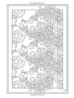Creative Haven Peacock Designs Coloring Book / Artwork by Marty Noble