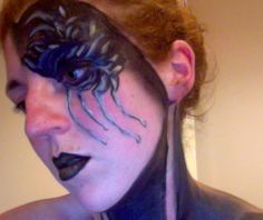 My practice pics. Halloween face paint. Tears and feathers