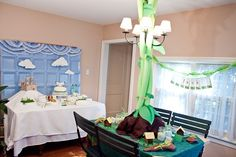 really cute Jack and The Beanstalk party- follow link! Classroom Decor Themes, Jack And The Beanstalk, Halloween Party Decor, Business For Kids, Kid Spaces, Piggy Bank, Event Design, Party Planning, Party Time