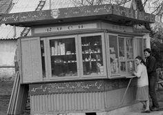 PB 43 Kiosk Ruchu z lat 60-tych XX wieku Poland Country, Kiosk, Retro, Childhood Memories, The Past, Teak, Blog, Tin Cans, Historia