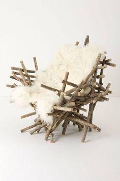 Branches & Fur Chair