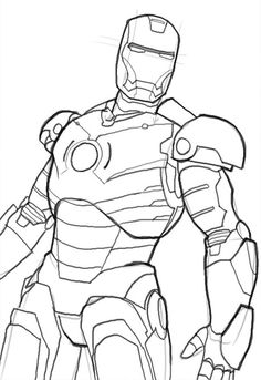 I have download Iron Man See The Enemy From The Side Coloring For Kids