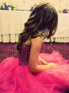 Vestido morado con rosa ;*