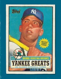 Author Bob Woods talks about his new book - Yankee Greats: 100 Classic Baseball Cards