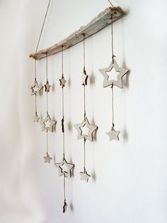 Rustic cottage star mobile,LARGE, handmade.. €40.00, via Etsy.