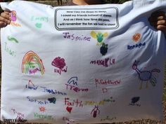End of Year Pillowcase students sign.  Great end of the year activity!