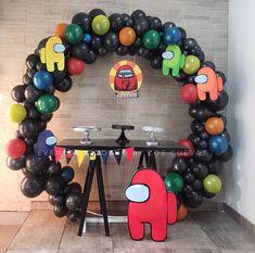 7th Birthday Party Ideas, Birthday Party Celebration, 11th Birthday, Birthday Balloon Decorations, Kids Party Decorations, Birthday Balloons, Party Time, Barbie, Amon