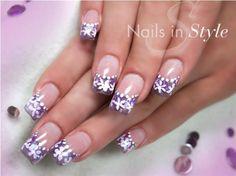 Flowerfrench by NailsInStyle - Nail Art Gallery nailartgallery.nailsmag.com by Nails Magazine www.nailsmag.com #nailart