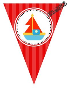 "DIY Boat Transportation Birthday Party Pendant Banner. Design Online Download & Print Immediately. Any Color Scheme. Pendant Banners each panel measures: 8.5"" x 11"" (19.75 CM x 25.85 CM)  Hot Glue or Tape Pendants to your string. Or punch holes and tie together with matching ribbon. Print at home or take to a place like Kinko's, Office Max, Copy Max, Staples or other stores that offer printing services."