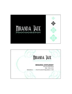 Custom business cards by Wentroth Designs. Visit Wentroth Designs on Facebook for a custom price quote!