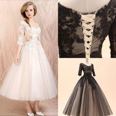 Wholesale Tea Length Weeding Dress - Buy Free Shipping 2014 Hot Selling Elegant Jewel Half Sleeve Lace A-Line Wedding Dresses Weeding Dress,... $123 in black
