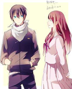 Noragami Anime, Yato And Hiyori, Manga Anime, Yatori, People Kissing, Gekkan Shoujo, Anime Love Couple, Manga Reader, Image Shows