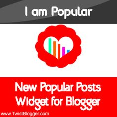 New Blogger Widgets - Elegant Style Popular Posts Widget For Blogger with Counter Box and Cool Hover Effect.