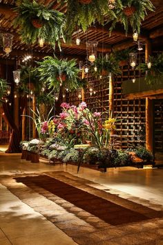 Love the hanging Boston ferns and candles Café Design, Event Design, House Design, Restaurant Design, Outdoor Rooms, Outdoor Living, Landscape Design, Garden Design, Deco Baroque