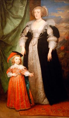 1634 Marie Claire de Croÿ, Duchess d'Havré and child by Sir Anthonis van Dyck