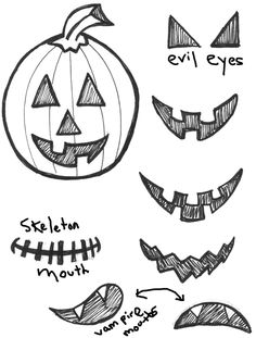 How to Draw Jack O'Lanterns and Pumpkins with Easy Step by Step Drawing Tutorial