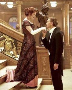 It is just awwww Titanic Costume, Titanic Dress, Titanic Movie, Titanic Quotes, Jack Dawson, Kate Winslet, Leo And Kate, Young Leonardo Dicaprio, Typography Poster