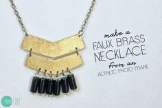 DIY: Another Aztec-Inspired Accessory - A Necklace #toobuku // www.thebukuproject.com