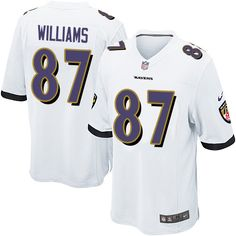 Nike Game Maxx Williams White Men's Jersey - Baltimore Ravens #87 NFL Road Myles Garrett jersey