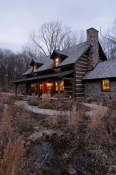 Cabin in the woods. Dreamy.: