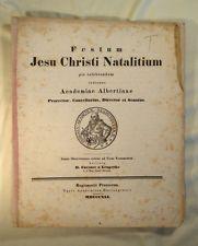 1841 Weihnachten Christmas Hebraica Königsberg Albertus-Universität Hebrew