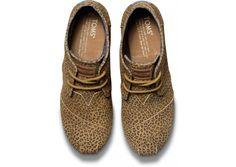 TOMS Cheetah Print Desert Wedge // RAWR