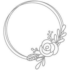 Floral Embroidery Patterns, Embroidery Art, Embroidery Designs, Silhouette Design, Gravure Laser, Motifs Roses, Wreath Drawing, Bullet Journal Art, Clipart