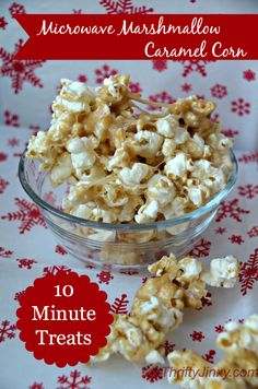 Microwave Marshmallow Caramel Corn  - easy 10 minute recipe!