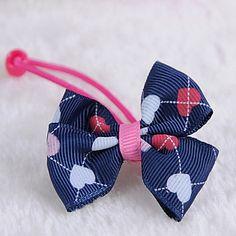 Korean Flower Girl's Fabric Bow Hair Tie 5179397 2016 – $1.99