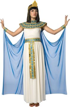 I bought this costume last year, but haven't worn it yet! I need to get myself a black wig (and a pharaoh)!