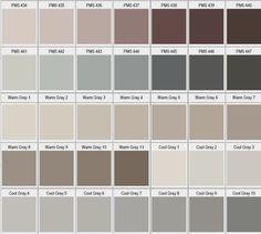 Pantone tonos gris / beige2